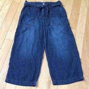 Seven7 Wide Leg Cropped Pants